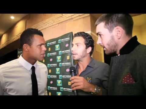 Janko & Jo Willy Interviewed By Fleming/Rojer In Indian Wells