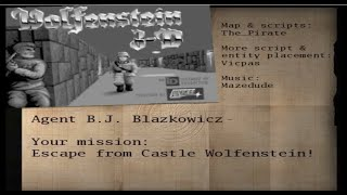 Return to castle Wolfenstein // Wolfenstein 3D E1M1 map //