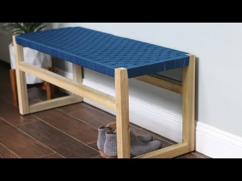 Modern Bench With Woven Fabric Seat: 6 Steps (with Pictures)