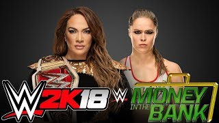 WWE2K18 - Nia Jax vs. Ronda Rousey - Money in the Bank - SIMULAÇÃO