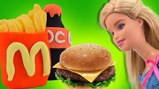 Барби и беременная Штеффи Макдональдс из Плей До Barbie McDonald's Мультик из игрушек Сери
