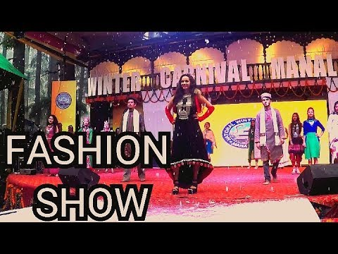 Fashion Show | Winter Carnival Manali India 2019 | Snowfall