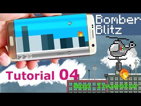 App Inventor Bomber blitz | helicopter bomber tutorial p04
