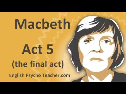 Macbeth Act 5 Summary with Key Quotes & English Subtitles