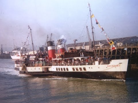 Paddle Steamer Waverley. Cruise to Newhaven via Milford Haven 15th April 1978.