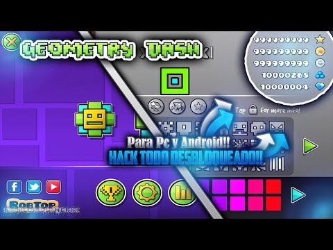 GEOMETRY DASH 2.11 HACK!! (ORBES, DIAMANTES, LLAVES & MÁS) Todo Desbloqueado!!!! Para PC Y ANDROID