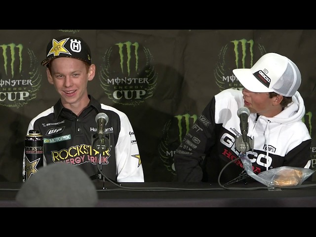 Post Race Press Conference - 250 Futures - 2019 Monster Energy Cup