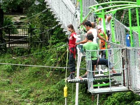 Lucia's bungee jump