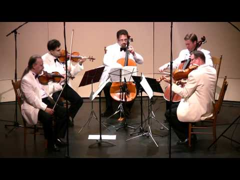 Glazunov String Quintet in A Major, Op. 39 - 1st movement.  CVCMF 2011
