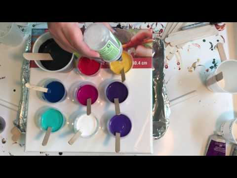Diy Pouring Medium And Art Lesson Testing Your Color Mix