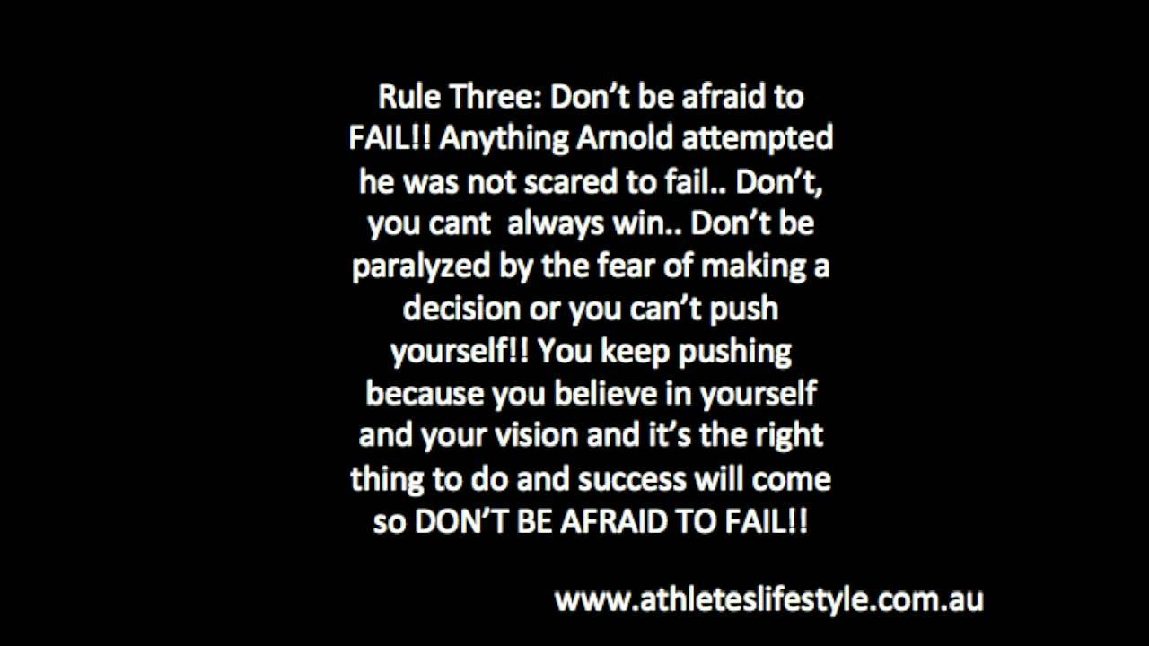 Arnold Schwarzenegger Life S 6 Rules Youtube Mov Youtube