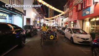 Chinatown Singapore by Night - Trishaw Ride