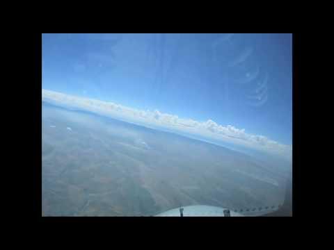 Tashkent to Bishkek B747 flight-deck View