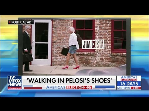 \'Walking in Nancy Pelosi\'s Shoes\': CA GOP Ad Depicts Opponent in High Heels