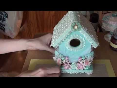 Shabby Chic Bird House Youtube