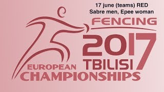 #European Championships Tbilisi Men Sabre/Woman Epee teams RED piste thumbnail