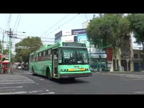 MEXICO CITY TROLLEYBUSES APRIL 2015