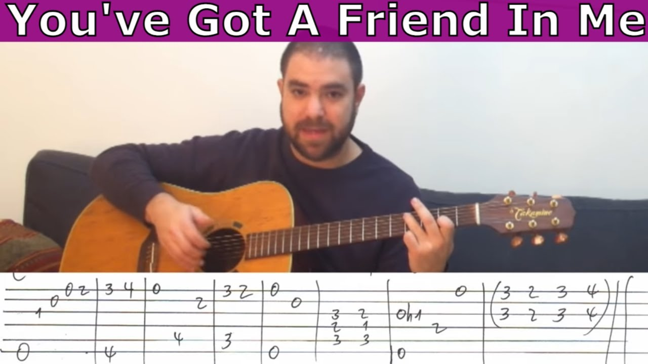 Fingerstyle Tutorial Youve Got A Friend In Me Guitar Lesson W