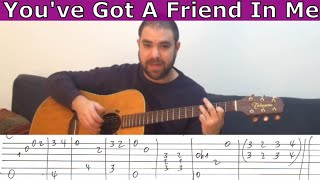 Fingerstyle Tutorial: You've Got A Friend in Me - Guitar Lesson w/ TAB