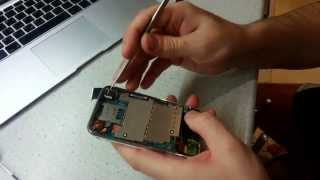 Ремонт iPhone 3gs 16gb замена аккумуляторной батареи(На видео приведен алгоритм разборки мобильного телефона компании Apple iPhone 3gs 16gb в сервисном центре iRepairs (г.Мо..., 2015-03-01T17:39:25.000Z)