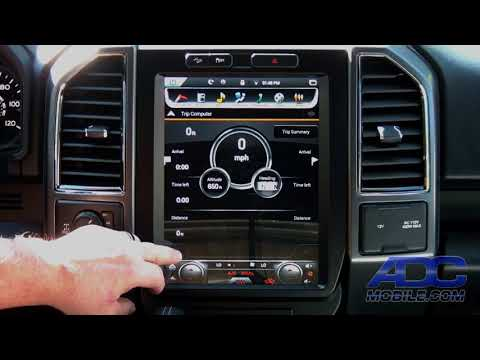 """Linkswell 12"""" T-Style Radio for Ford F-Series: Navigation Operation"""
