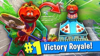 The TOMATOHEAD Skin CHALLENGE in Fortnite: Battle Royale! (LEGENDARY ENDING!)