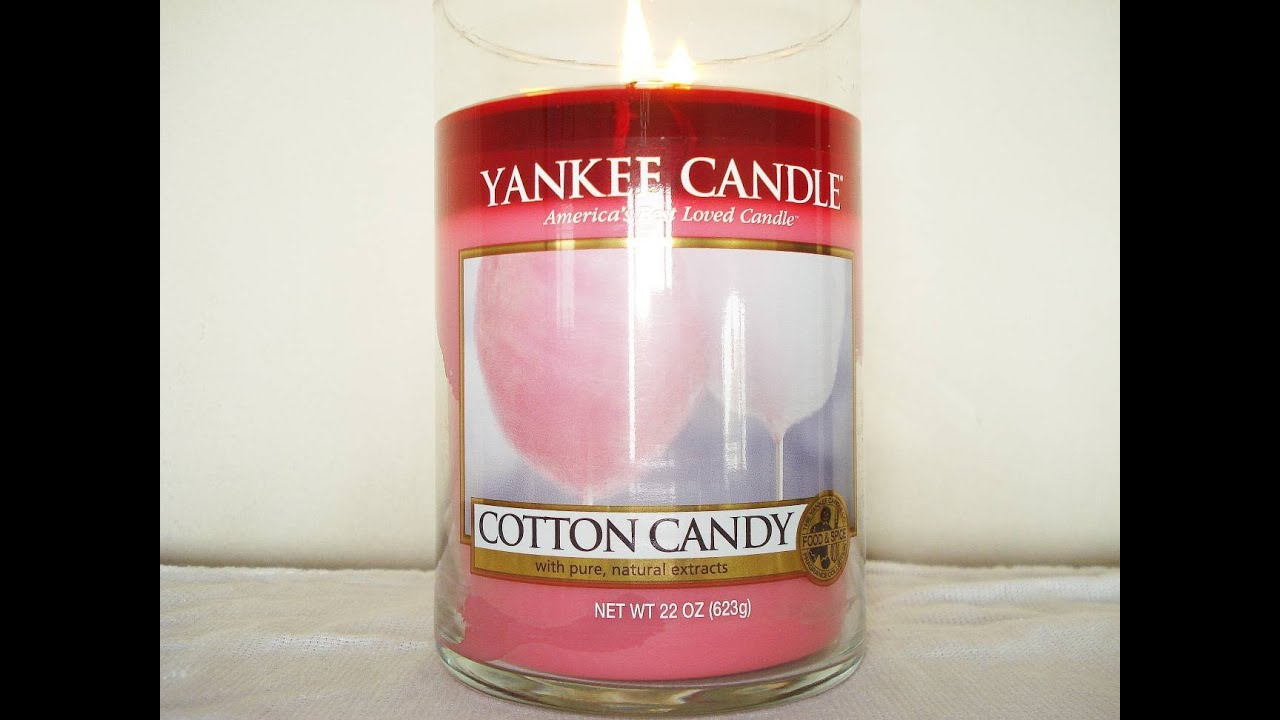 LBD's LAST Review) Yankee Candle Review: Cotton Candy - YouTube