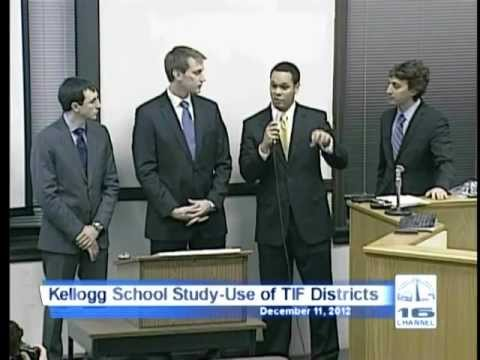 Kellogg School Study on Evanston's Use of TIF Districts - 12/11/2012