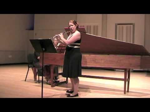 Suite Antique by John Rutter - Kristen Stoner, flute and Laura Ellis, harpsichord