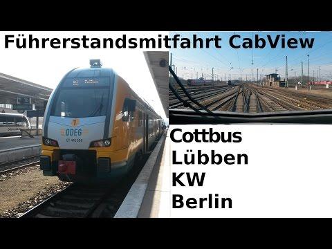 Führerstandsmitfahrt / CabView: RE2 - Cottbus - Lübben - Königs Wusterhausen - Berlin