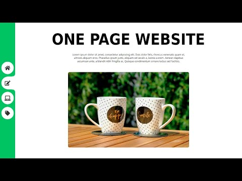 One Page Animated Website Design Using HTML CSS JS