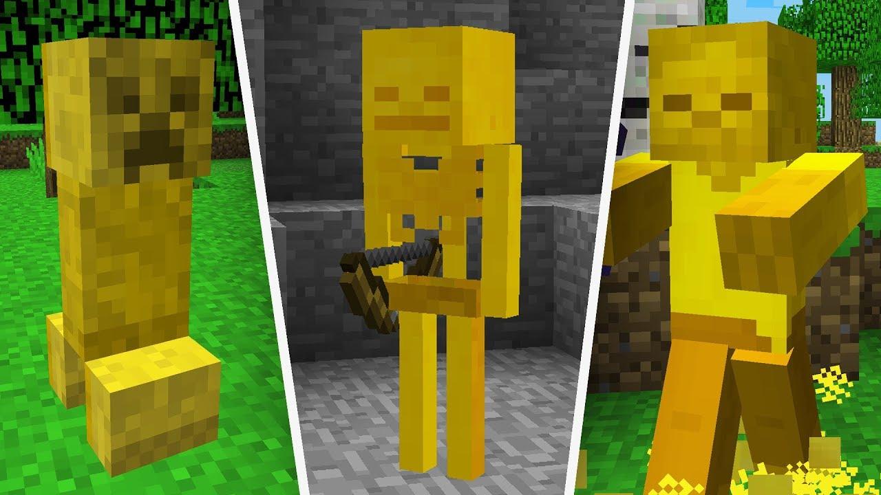 Rare Golden Minecraft Mobs Youtube