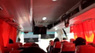 Manila to Angeles City - Inside an AirCon bus