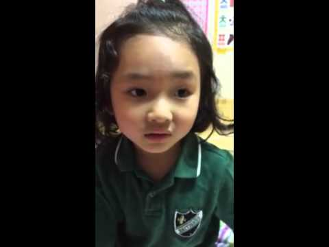 Korean Child speak khmer language very cute.