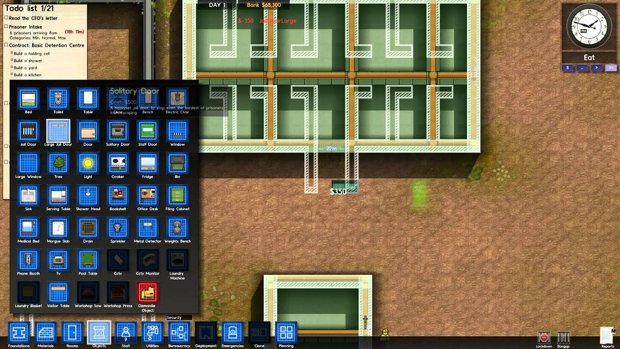 Creating The Perfect Prison Architect Day 1