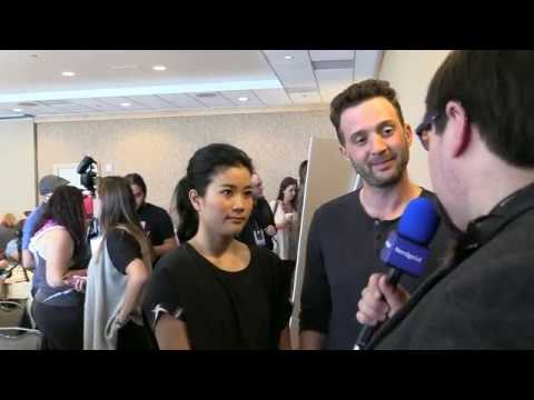 with Scorpion cast Jadyn Wong and Eddie Kaye Thomas at SDCC 2016