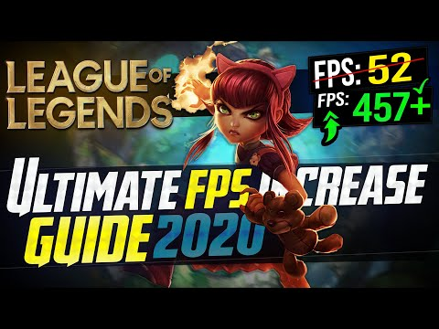 🔧 League Of Legends: Dramatically Increase FPS / Performance With Any Setup! In LOL 2020