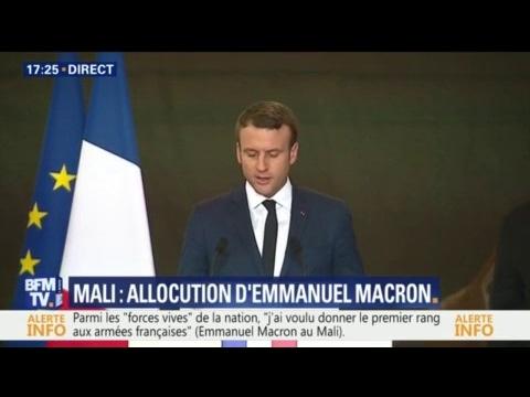 """Emmanuel Macron au Mali: """"J'ai voulu donner le premier rang aux armées françaises"""""""