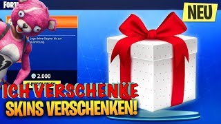 SKINS GIFT IS DA 😱! I give skins 😱 ! Fortnite Live English Skins VERSCHENK