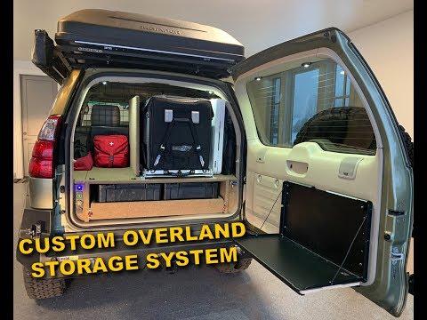 Custom Overland Storage System in Lexus GX470