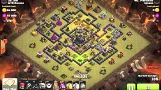 [Clash of Clans] | Stoned GoHog (2 Fingers) | TH9 | 3stars #040