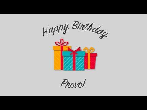 Happy Birthday Provo Week!