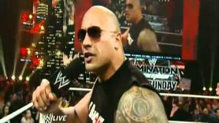 The Rock Returns To Monday Night Raw 2/14/11 Part 2/2