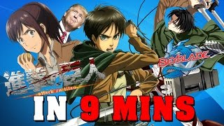 Attack on Titan IN 9 MINUTES thumbnail
