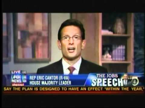 Eric Cantor: President Obama's All or Nothing Approach Is Not A Serious Way To Accomplish Results