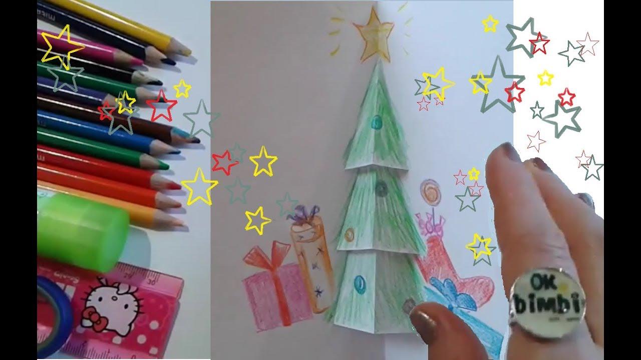 Lavoretti Biglietti Di Natale.Biglietto Di Natale Pop Up Video E Lavoretti Per Bambini Youtube