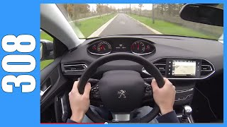 POV Peugeot 308 1.6 THP OnBoard Test Drive Acceleration
