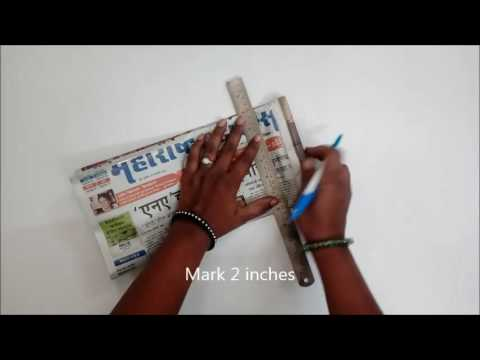 How to make Newspaper Bag for Pharmacy