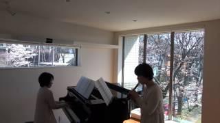 森山直太朗の「さくら」をリコーダーとピアノ用にアレンジしました。(...