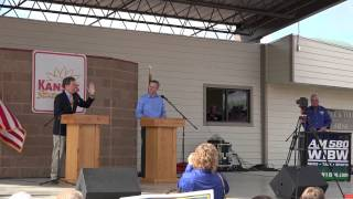 Paul Davis / Sam Brownback Debate Part 1